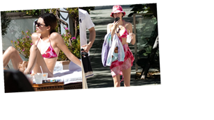 Kendall Jenner Makes an Adorable Tie-Dye Bikini Set the New Must Have