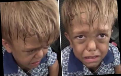 Mum posts heartbreaking video of son, 9, with dwarfism in tears saying 'someone kill me' after daily bullying – The Sun