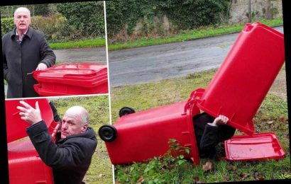 Multi-millionaire tells homeless people to sleep in his bizarre 'dry and safe sleep pod' made from two wheelie bins – The Sun