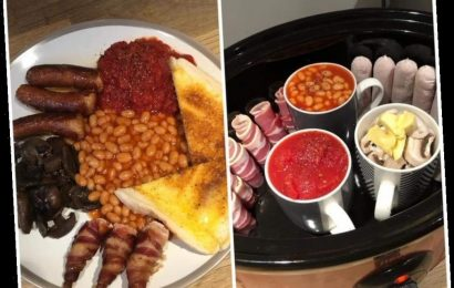 Woman's genius hack for cooking her full English in a slow cooker goes viral – and the trick is to get the sausages perfectly crispy