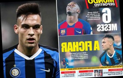 Barcelona step up £100m transfer hunt for Lautaro Martinez after Ousmane Dembele ruled out for six months after surgery – The Sun