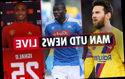1pm Man Utd news LIVE: Messi free transfer edges closer, Koulibaly to cost £127m, Ighalo to face Club Brugge – The Sun