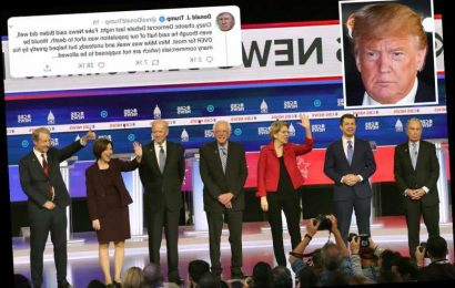 Donald Trump slams 'crazy, chaotic' Dem debate – blasting 'unsteady' Bloomberg and 'mean' Warren – The Sun