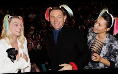 Ewan McGregor Tries On Harley Quinn's Pigtails at 'Birds of Prey' Fan Event in NYC