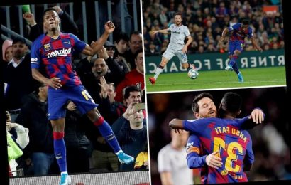 Barcelona 2 Levante 1: Ansu Fati double and Lionel Messi assists see champions keep pressure on Real Madrid – The Sun