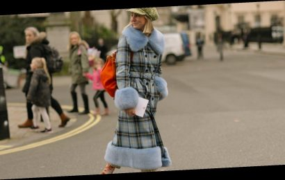 LFW: the statement coat making wet weather chic again