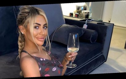 Chloe Ferry enjoys self-isolation by twerking and drinking wine with her mother