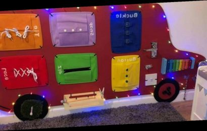 Savvy mum creates a 'busy board' for son for £19 from eBay and Home Bargains