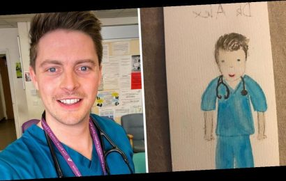Love Island's Dr Alex George sobs as little girl thanks NHS staff with sweet drawing amid coronavirus