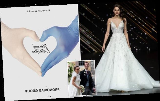 Pronovias donating wedding gowns to  brides-to-be helping on COVID-19