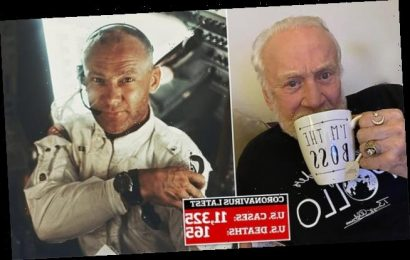 Buzz Aldrin, 90, 'lying on my a*s and locking the door' inquarantine