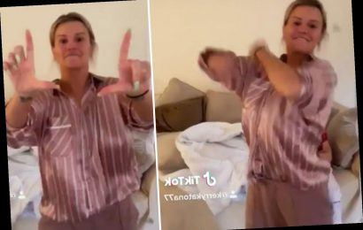 Kerry Katona performs viral TikTok dance in pyjamas after revealing she has coronavirus symptoms – The Sun