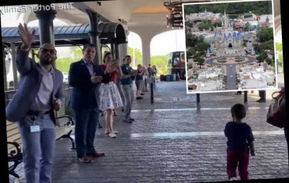 Emotional moment final family to leave Disney World in Florida before coronavirus lockdown are applauded by staff – The Sun
