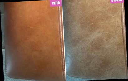 Woman transforms battered leather sofa using just £1.29 MOISTURISER and the difference is incredible