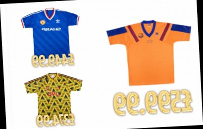 Most valuable vintage football shirts including Man Utd's 86 third shirt… but do you own one worth £600? – The Sun
