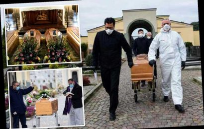 Coronavirus funerals all over Europe as entire continent locks down to stop bug killing more