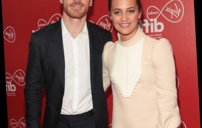Michael Fassbender & Alicia Vikander seen together for the first time in years