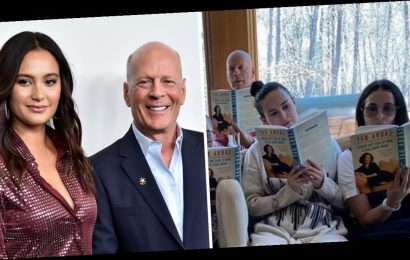 Demi Moore and Bruce Willis appear in another family snap as fans question where Bruce's wife is