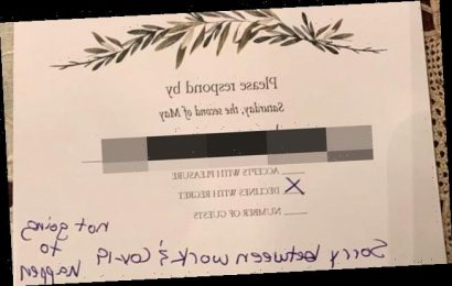 Bride-to-be shocked by 'rude' guest's wedding RSVP