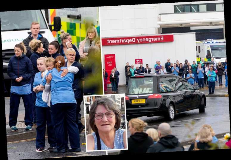 Heartbroken NHS staff line street to clap colleague, 73, who died of coronavirus as funeral cortege passes her hospital – The Sun