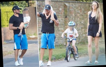 Peter Andre's wife Emily has day off from NHS frontline as family enjoy a bike ride – The Sun