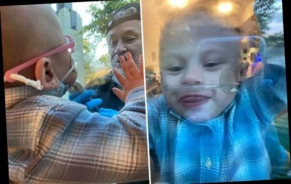 My boy's been quarantined for months after he was born early – watching him kiss family through glass breaks my heart