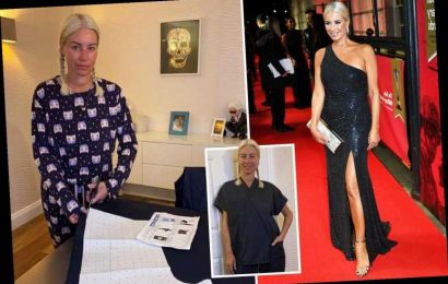 Denise Van Outen joins inspirational army of amateur stitchers making thousands of scrubs for NHS heroes – The Sun