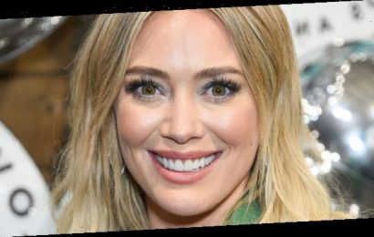 Hilary Duff Gives Herself Bright Blue Hair While Quarantining
