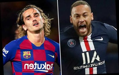 Barcelona looking at part-exchange transfer with PSG to sign Neymar with Antoine Griezmann going other way – The Sun