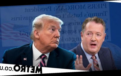 Piers Morgan brands Donald Trump 'reckless' for disinfection comments