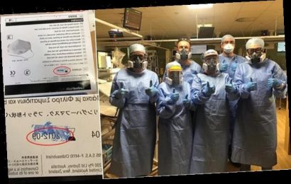 Nurses forced to use face masks that were relabelled with new dates
