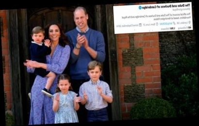 Prince William and Kate Middleton change display names on social media