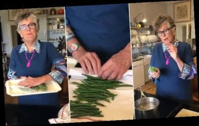 Prue Leith shares her easy technique for freezing green beans