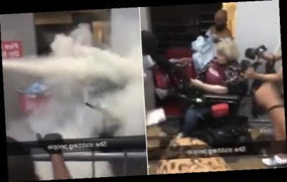 Woman in a wheelchair is punched in the head during George Floyd riots