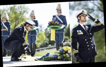 Prince Carl Philip of Sweden dons military uniform