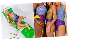 This Summersalt x Tanya Taylor Swimsuit Collab Is the Burst of Joy We All Need Today