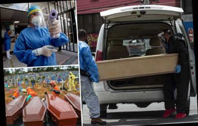Coronavirus corpse loaded into coffin in the street as Latin America becomes new pandemic epicentre – The Sun