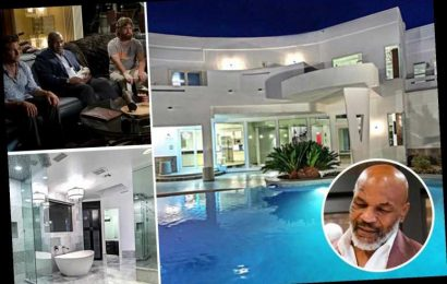 Inside Mike Tyson's former £1.5m Las Vegas mansion used in The Hangover with an infinity pool, two spas and a waterfall – The Sun