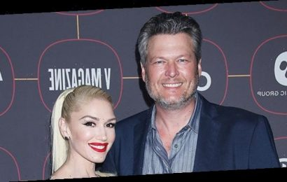 Gwen Stefani & Blake Shelton Share A 'Number One Party Kiss' At Home Together — Watch