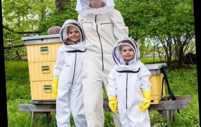 Princess Estelle and Prince Oscar of Sweden Sport the Most Adorable Mini Beekeeping Suits