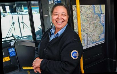 This bus driver gets essential workers to hospitals while the city sleeps