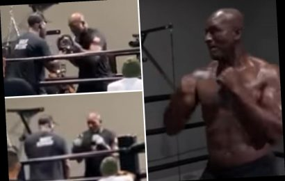 Leaked footage of 'slow' Evander Holyfield has fans fearing for 57-year-old icon if he fights Mike Tyson in trilogy bout – The Sun