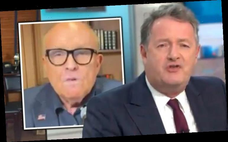 Piers Morgan in furious row with Trump lawyer Rudy Giuliani 'failed journalist f***ed up!'