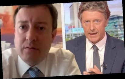 Charlie Stayt hounds Tory MP in two-metre rule scuffle: 'It's a straightforward question!'
