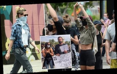 Emily Ratakjowski and Kristen Stewart join Black Lives Matter protest