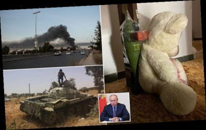 Russian mercenaries leave a teddy taped to mortar shell in Libya home