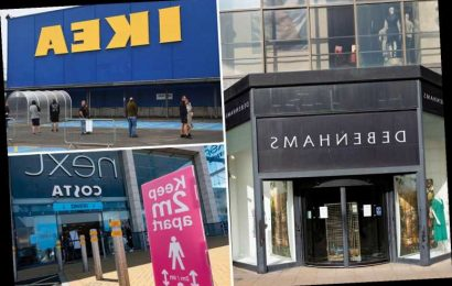 All the shops opening up more branches today as Wales and Scotland relax lockdown rules