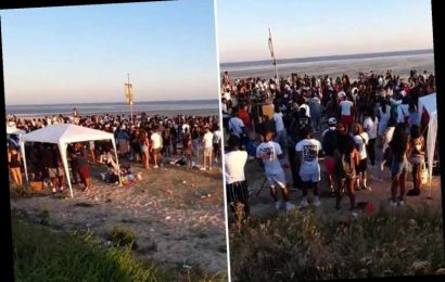 Two stabbed at Isle of Sheppey rave after dozens descended on beach in 34C scorcher