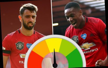 Man United Player Ratings: Anthony Martial, Bruno Fernandes and Marcus Rashford lead way in 3-0 win over Sheffield Utd – The Sun