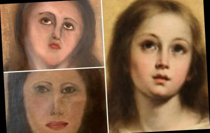 Priceless 17th century painting of Virgin Mary is ruined after furniture repair man is paid £1,000 to restore it